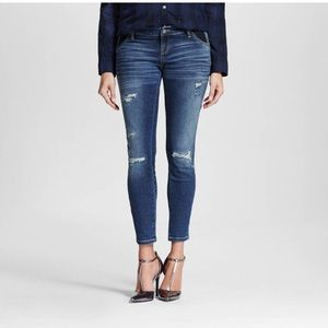 Maternity Ankle Skinny Jeans with side panel